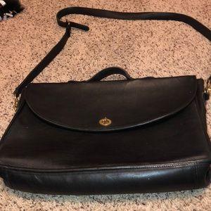 c87667ce28c5 ... Coach vintage leather briefcase bag.